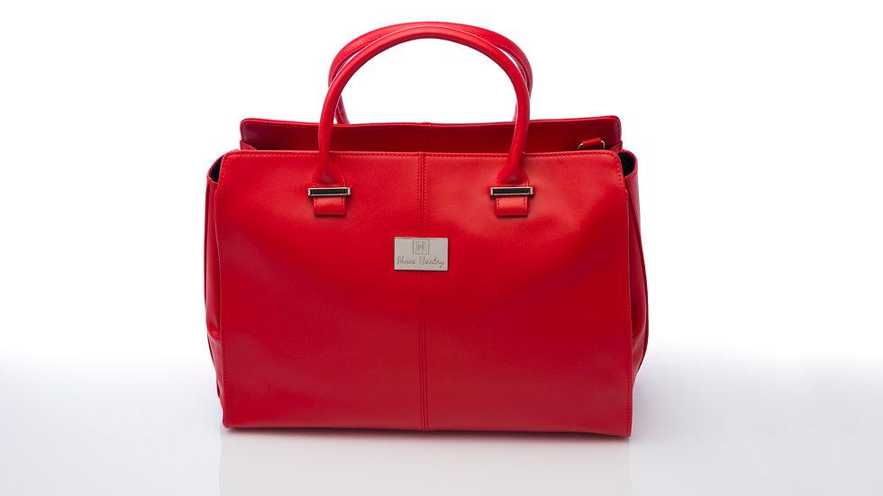 Nova Harley Red Amsterdam Real Italian Leather Changing Bag