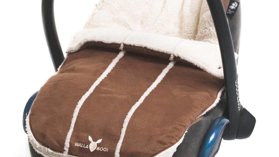 Wallaboo Newborn Footmuff - Chocolate Brown