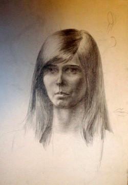 8 мес. обучения. Портрет карандашом
