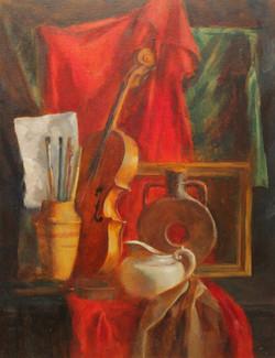 Натюрморт со скрипкой. Холст, масло