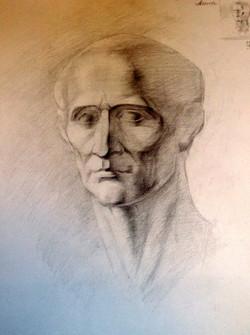Гипсовая голова Цезаря.