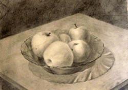 2 мес. обучения. Яблоки