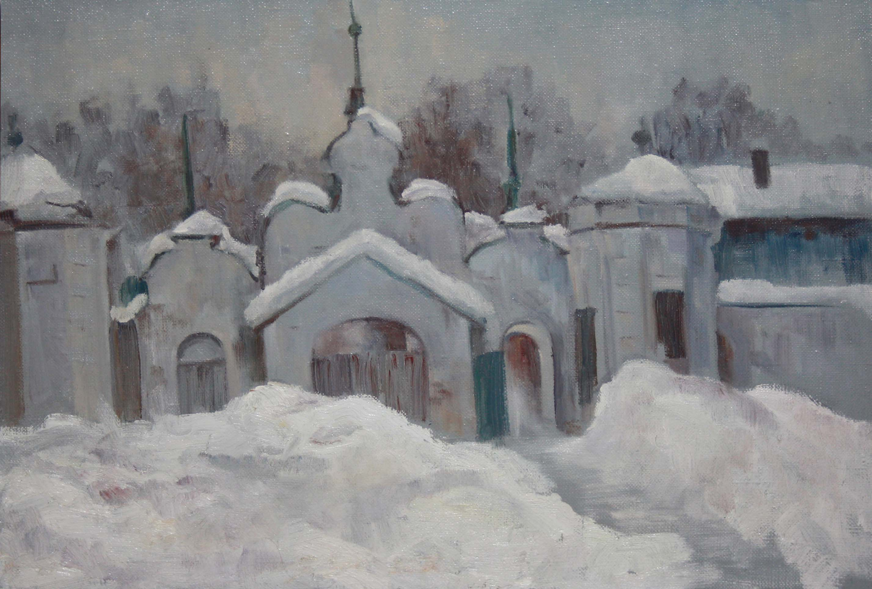 """Этюд """"Ворота монастыря"""""""