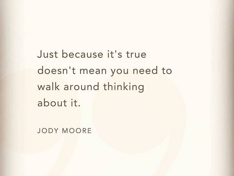 STOP THINKING ABOUT IT!