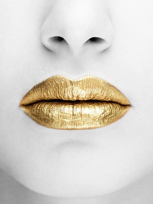 Poster Art - Golden lips