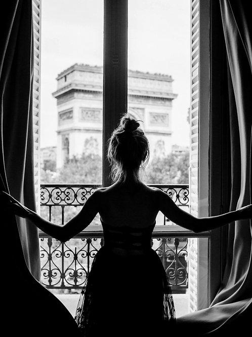Poster Art - Girl in Paris