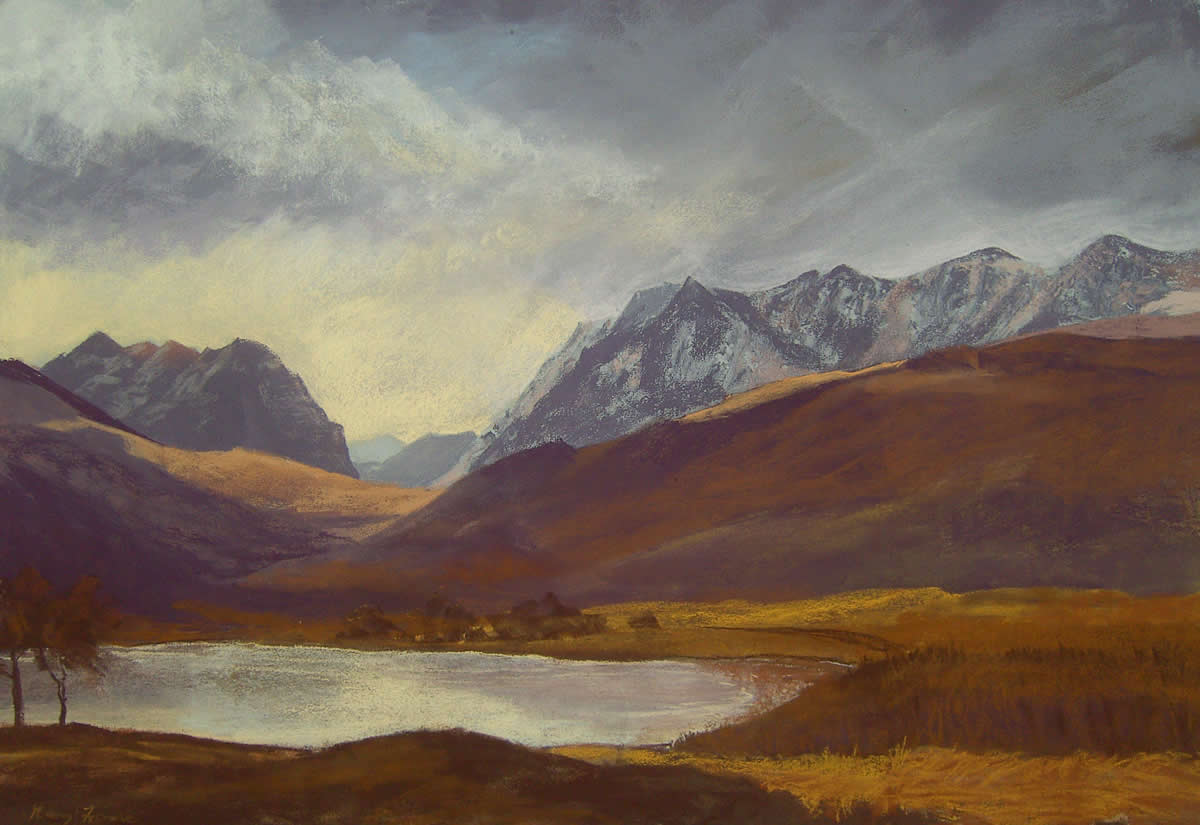 Liathac and Beinn Eigh from Loch Coulin