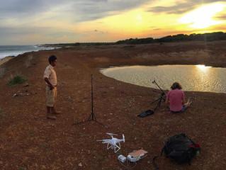 On location in Sri Lanka