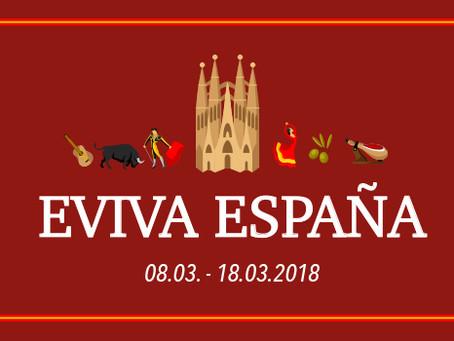 EVIVA ESPAÑA - 08. bis 18. März