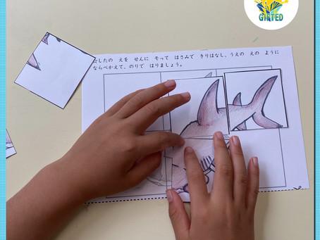 サメのパズル☆