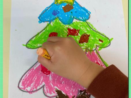 カラフルなクリスマスツリー☆