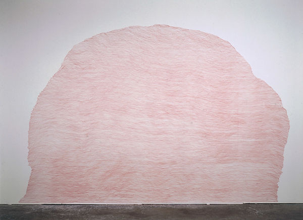 a red pencil on wall from the series Ascent by Pak-Keung Wan