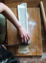Homemade soba noodle