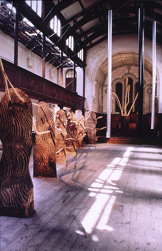 a sound and sculpture installation at Fabrica, Brighton by Pak-Keung Wan and Walter Bailey