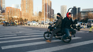 Scooter Riding Shanghai Style