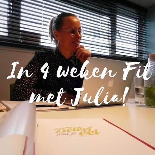 Online begeleiding: in 4 weken fit met Julia!