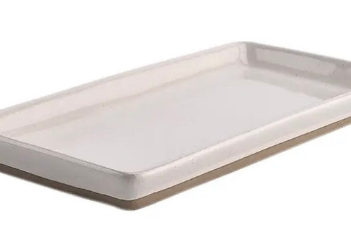 Ceramic speckled tray