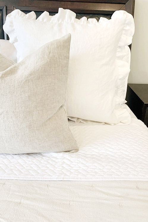 Full ruffle pillow cover