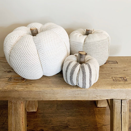 Fabric Pumpkins - set of three