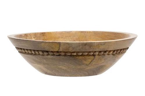 Wood bead bowl