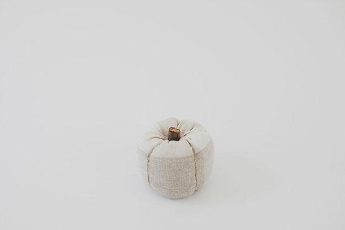 Fabric Pumpkin - Natural Plaid