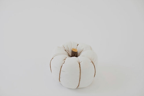 Fabric Pumpkin - Cream