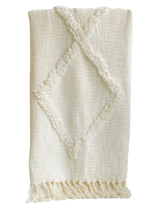 Tribal Trufted cotton throw