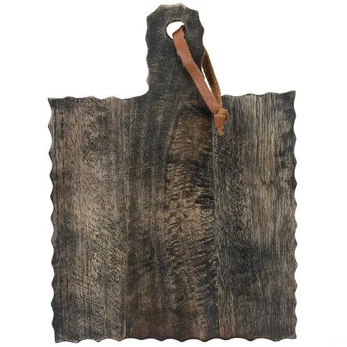 Carved wood board in black