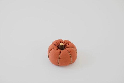 Fabric Pumpkin - Burnt Orange