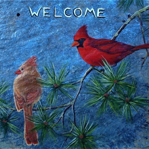Slate Welcome Sign - Cardinals, II