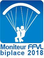 Moniteur FFVL biplace parapente 2018