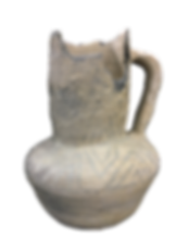 Photo of black-on-white vessel from the Miles Anthropological Collection