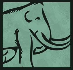 mammoth logo in green