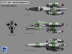 RazorBack Ship concept Art