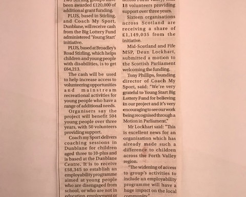 Stirling Observer - Funding Announcement