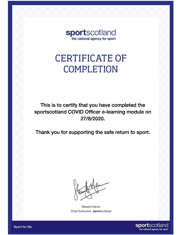 270820 COVID Officer E-Learning Certific