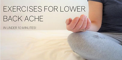 Lower Back Exercises | Cotswold Menopause | UK