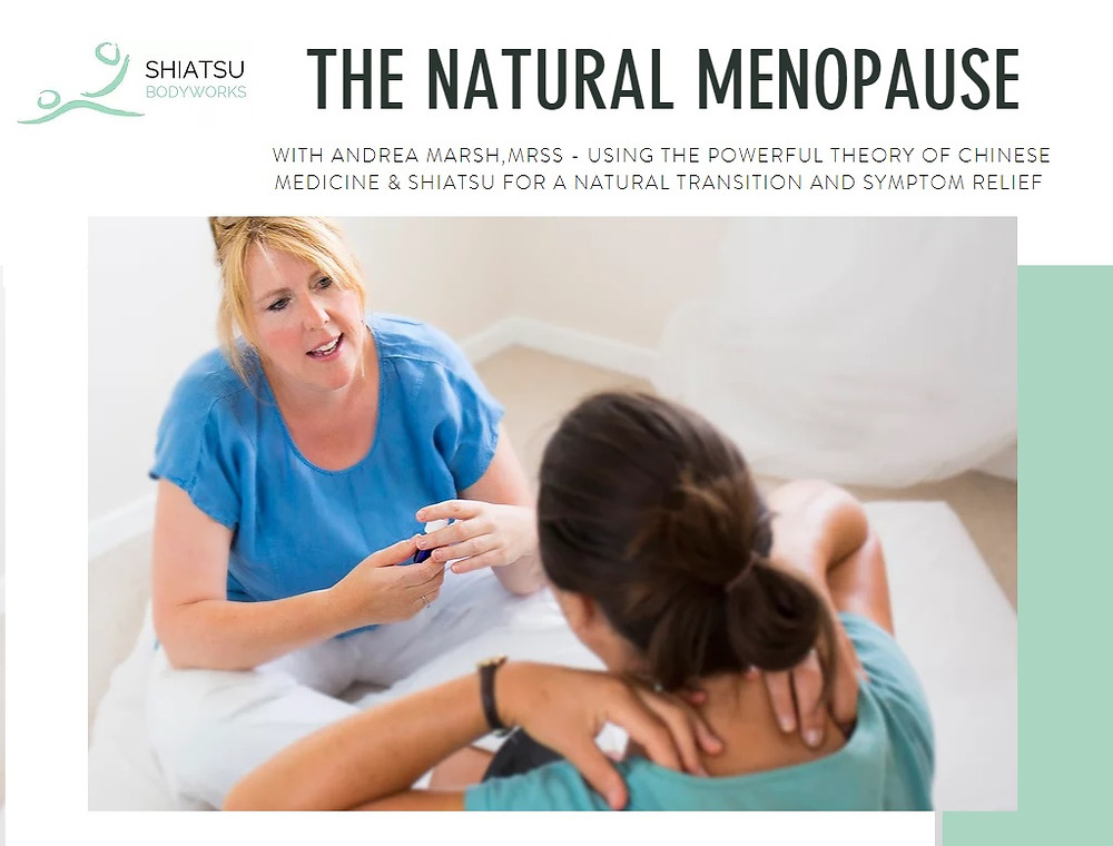 Shiatsu  Bodyworks - Cheltenham - Helping Women resolve menopause symptoms naturally