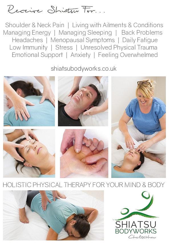 Shiatsu Bodyworks  - Cheltenham - Shiatsu for men and women health benefits and pain relief