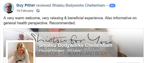 Shiatsu Bodyworks  - Cheltenham - Guy had back pain and stress