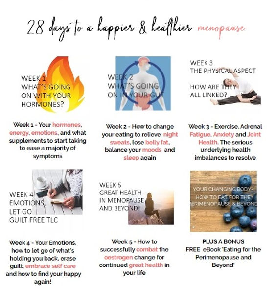 28 Days to resolve your menopause symptoms | UK | Cotswold Menopause