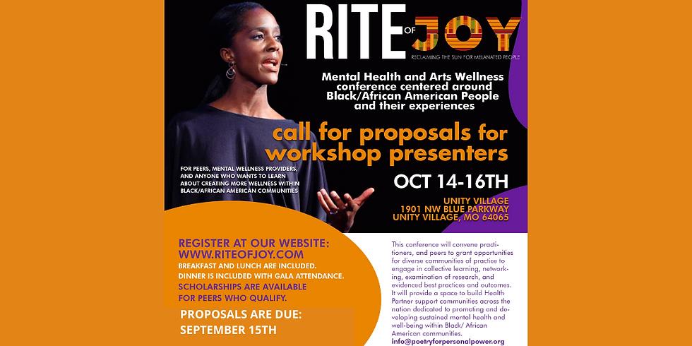 Rite of Joy Speakers Proposals Due