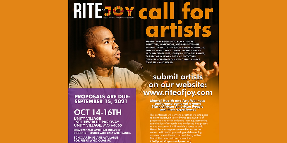 Rite of Joy is Looking for Artists!