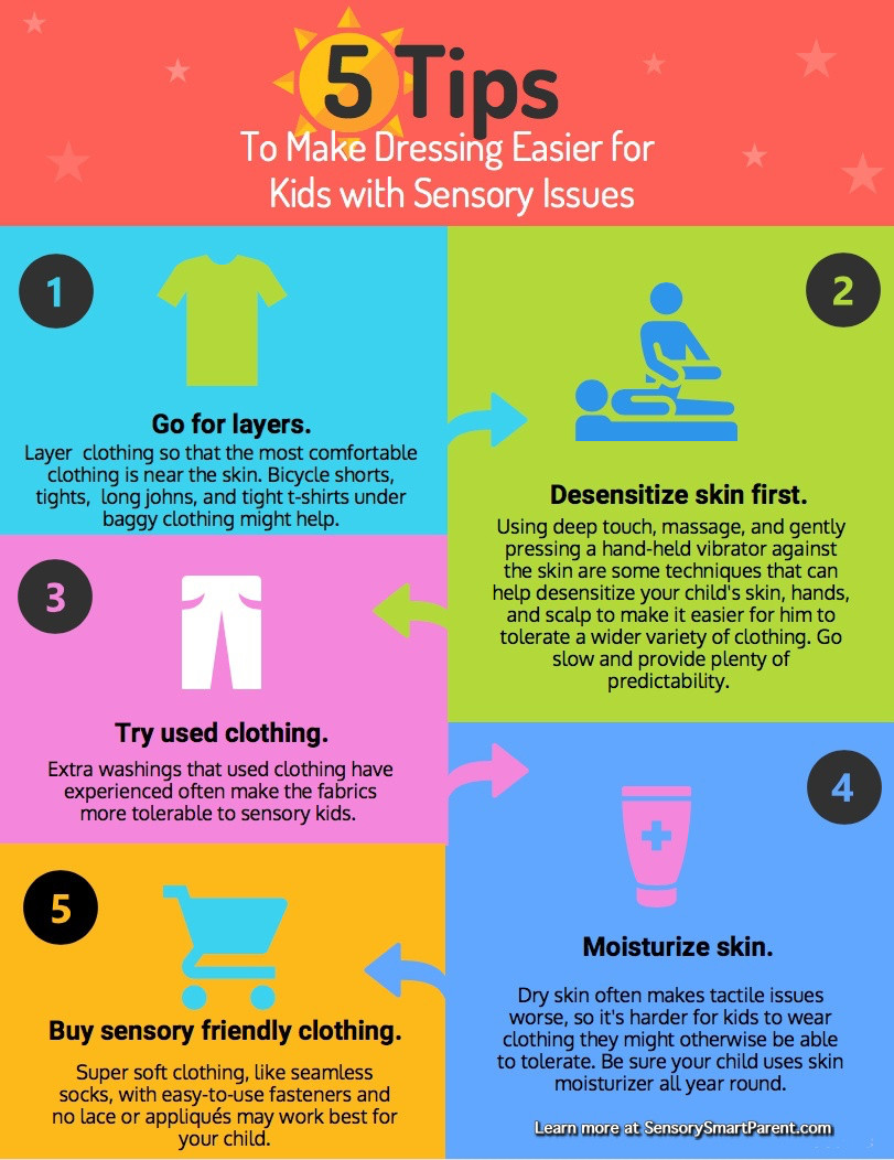5 tips to make dressing easier for kids with sensory issues