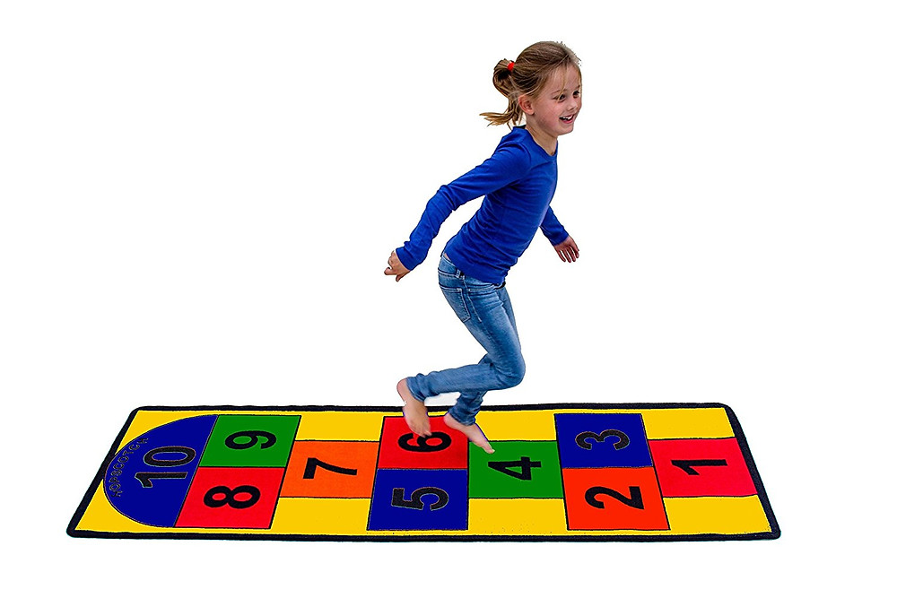 indoor hopscotch carpet top toy kids with sensory issues