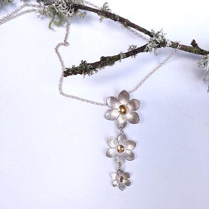 Triple Passion Flower Necklace