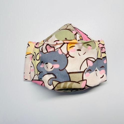 Mask - Joyful Kittens Pink Series 2