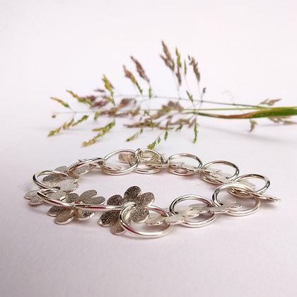 Frosted Flower Link Bracelet
