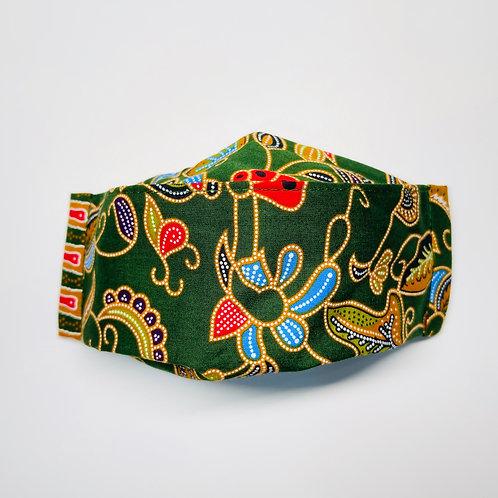 Mask - Green Batik Series 4