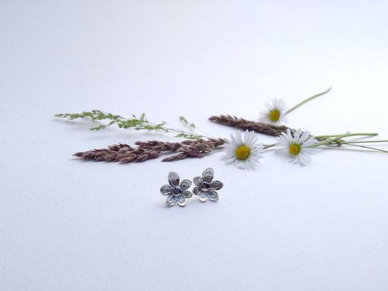 Embossed Flower Studs